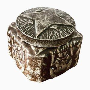 Danish Bornholm Ceramic Bowl with Lid, 1960s