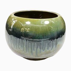 Large Glazed Ceramic Cachepot, 1970s