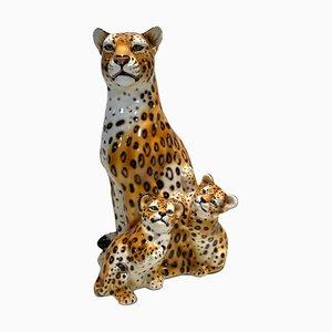 Jaguar in Fayence De Capodimonte