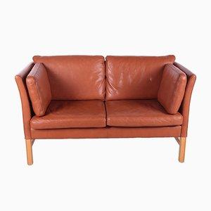 Danish 2 Seater Leather Sofa by Mogens Hansen, 1980s, Denmark