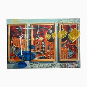 Großes abstraktes Ölgemälde von John Mackay