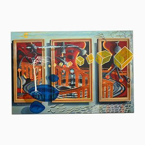 Large Abstract Oil Painting by John Mackay