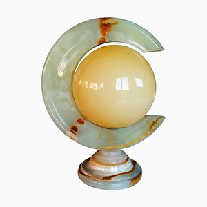 Table Lamp in Onyx and Glass Opaline, 1970s