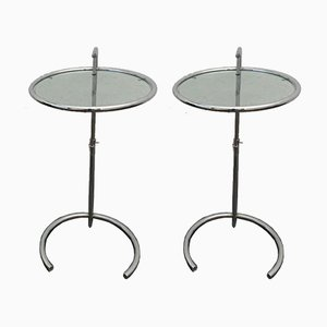 Adjustable Steel Tables by Eileen Gray for Classicon, Set of 2