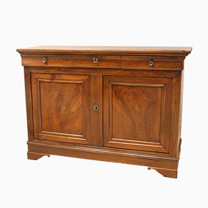 Louis Philippe Sideboard aus Nussholz, 19. Jh