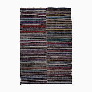 Gestreifter türkischer Vintage Teppich