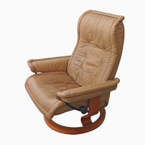 Norwegian Leather Lounge Chair