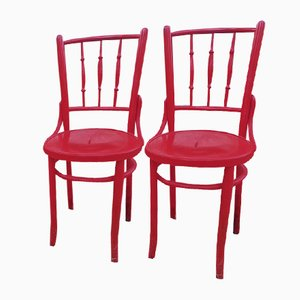 Grey Bistro Chairs from Lichtig, 1900s, Set of 2