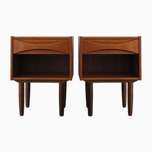 Scandinavian Bedside Tables in Teak by Arne Vodder, 1950s, Set of 2