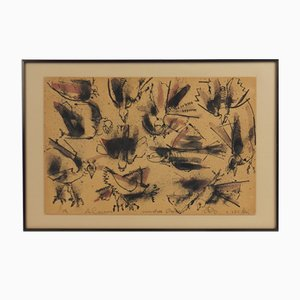 Uccelli, lavoro su cartone, Camilo Otero