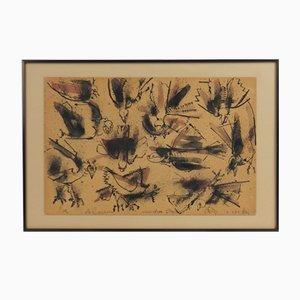 Vögel, Arbeit auf Karton, Camilo Otero