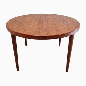 Round Teak Dining Table by Johannes Andersen for Uldum Møbelfabrik