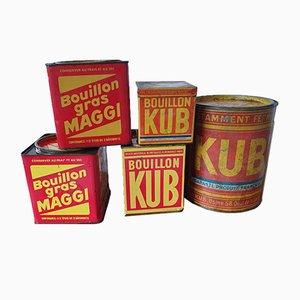 Boîtes Antiques de Bouillon Kub, Set de 5