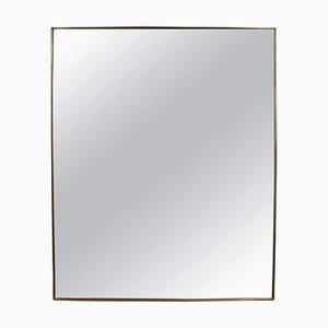 Vintage Italian Brass Wall Mirror, 1950s