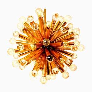 Gilt Brass & Swarovski Pendant Lamp From Ernst Palme, 1960s
