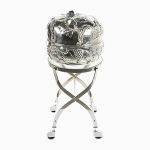 Silver Bar Cart by Franco Rabini