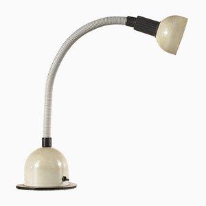 Weiße italienische Vintage Tischlampe, 1980er