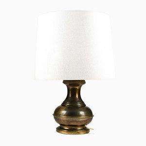 Brass-Colored Metal & Fabric Table Lamp from Raffia Italia, 1970