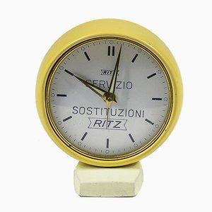 Vintage Ritz Yellow Alarm Clock, 1960