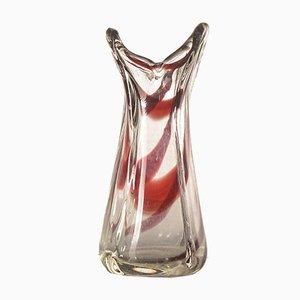 Italian Red Murano Glass Vase, 1980s