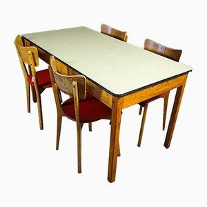 Mid-Century Oak & Formica Table, 1950s