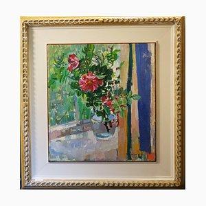Gleb Savinov - Pink Wild Roses on the Windowsill - 1994 1994