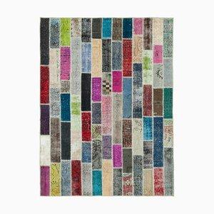 Modern Multicolored Patchwork Rug