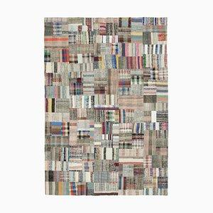 Multicolored Patchwork Kilim Rug