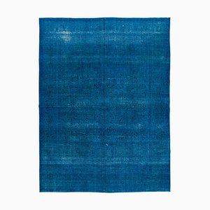 Large Blue Overdyed Area Rug