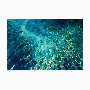 Turquoise Blues Waterscape, 2021