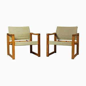 Model Diana Lounge Chairs by Karin Mobring for Ikea, 1970s, Set of 2