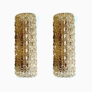 Mid-Century Bubble Glass Sconces from Limburg, Set of 2