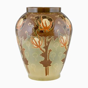 Art Nouveau Ceramic Vase by Hippolyte Boulenger
