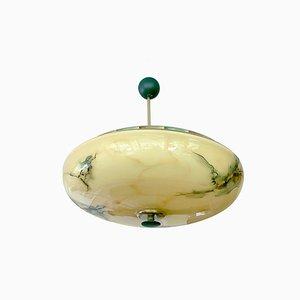 Art Deco Amber Glass Pendant Light, 1930s
