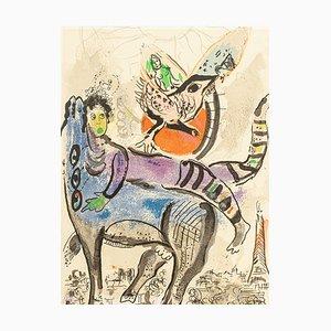 Marc Chagall, La Vache Bleue, Original Lithographie