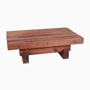 Table Basse Brutaliste en Pin par Jens Lyngsøe pour Havdrup Trævarefabrik
