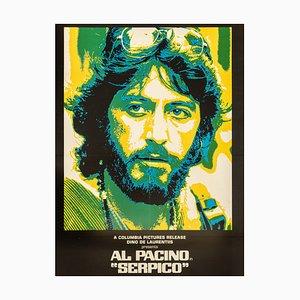 Póster Serpico Al Pacino, años 70