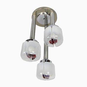Italian Lamp with Tulip in Murano Glass