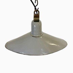 Industrial Gray Enamel Light, 1930s