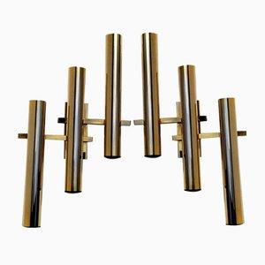 Brass Sconces by Gaetano Sciolari, 1960s, Set of 2