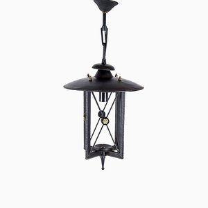 Sheathed Leather Lantern by Jacques Adnet