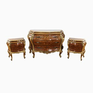 Venetian Style Chest of Drawers and Parches, Set of 3