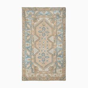 Türkischer Dekorativer Blauer Oushak Teppich