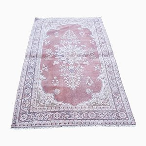 Small Turkish Distressed Red Rug