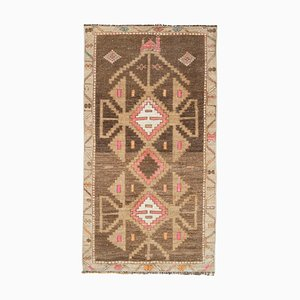 Vintage Turkish Camel Oushak Rug
