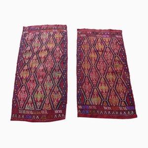 Small Turkish Kilim Rugs, Set of 2