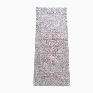 Vintage Distressed Oushak Rug or Mat