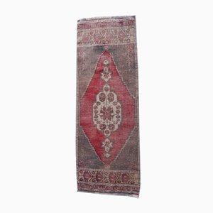 Small Vintage Turkish Bohemian Handmade Rug