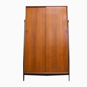 Dark Teak Entryway Coat Cupboard, 1960s