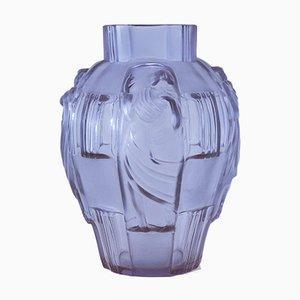 Art Deco Glass Vase, 1930s